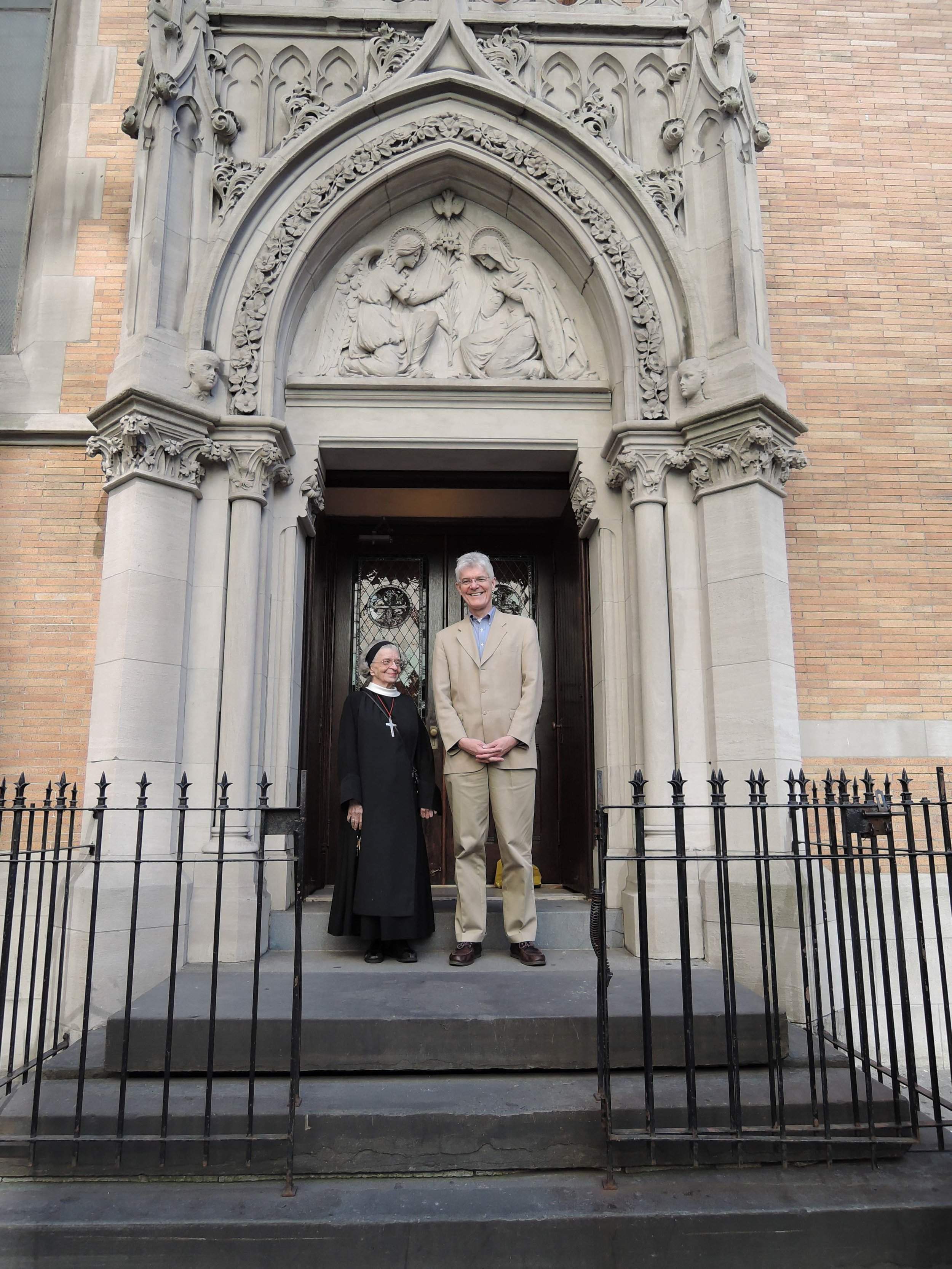 Sister Laura Katharine, CSJB with The Very Reverend Lister Tonge, Dean of Monmouth.