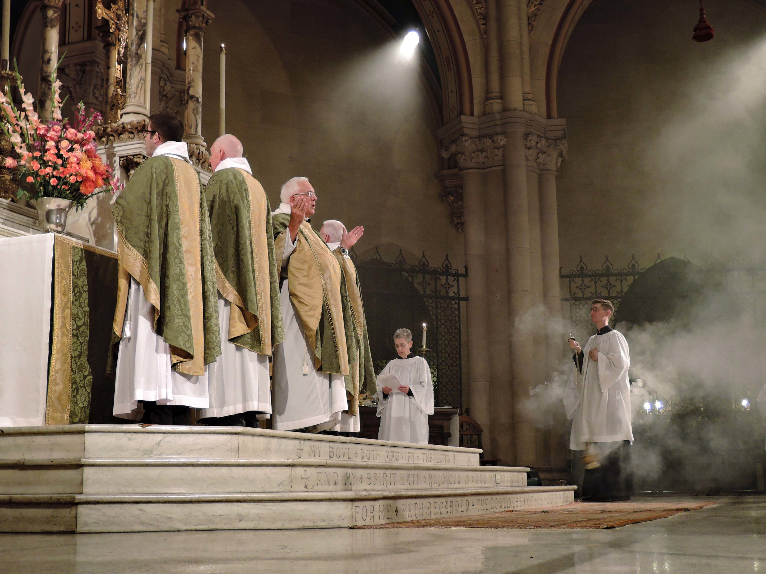 Father Powell was celebrant and preacher for the Solemn Mass on Sunday, October 22.