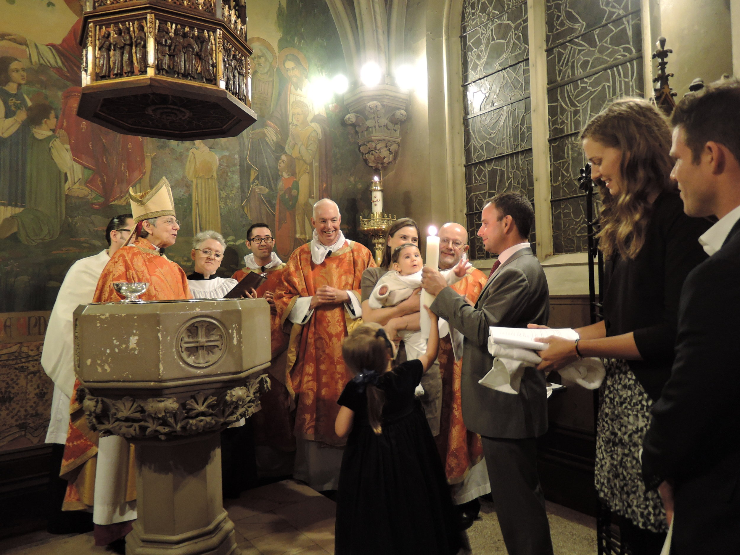At the Font on All Saints' Day