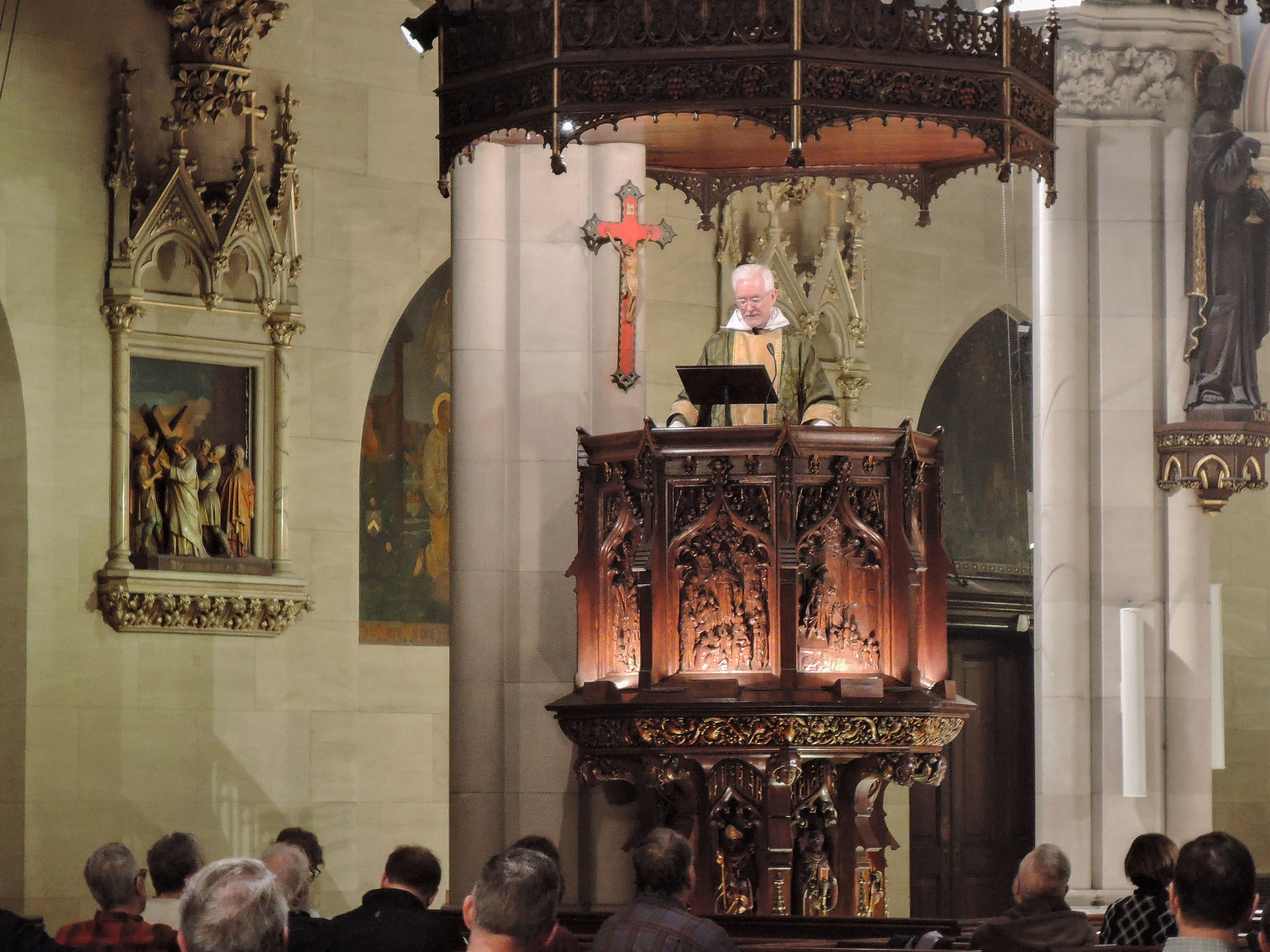 Father Jim Pace was celebrant and preacher for the Solemn Mass on Sunday, October 29.