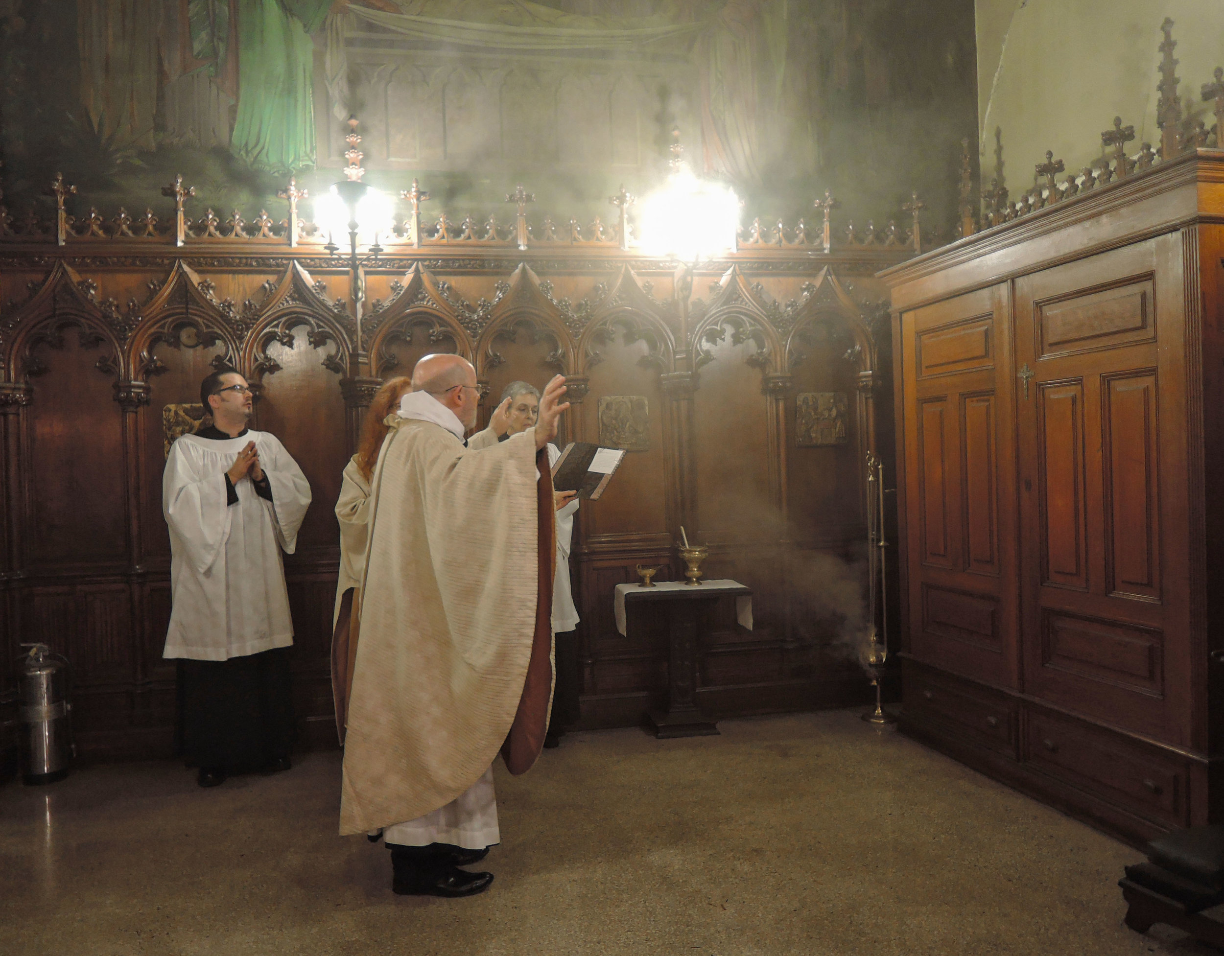 The Blessing of the Vault following the Evening Sung Mass on All Souls' Day.