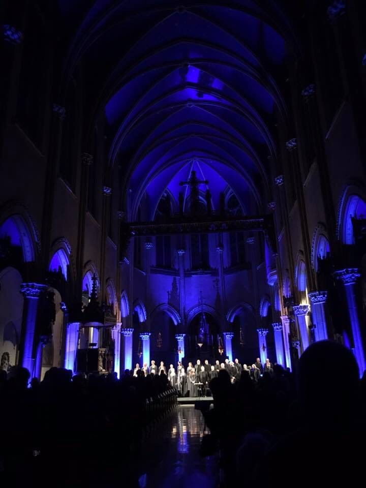 The Swedish Radio Choir performed at Saint Mary's on Tuesday, November 14, as part of Lincoln Center's White Light Festival.  Photo by Ruth Cunningham