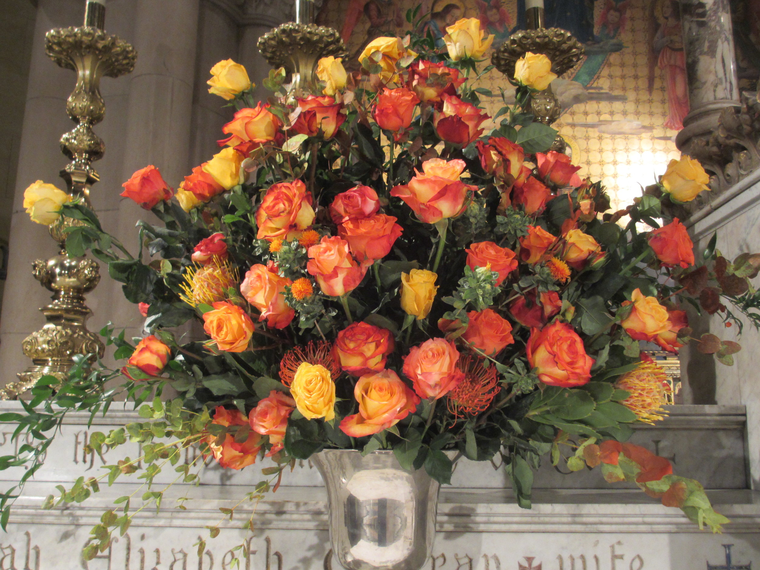 The High Altar flowers    Photo by MaryJane Boland
