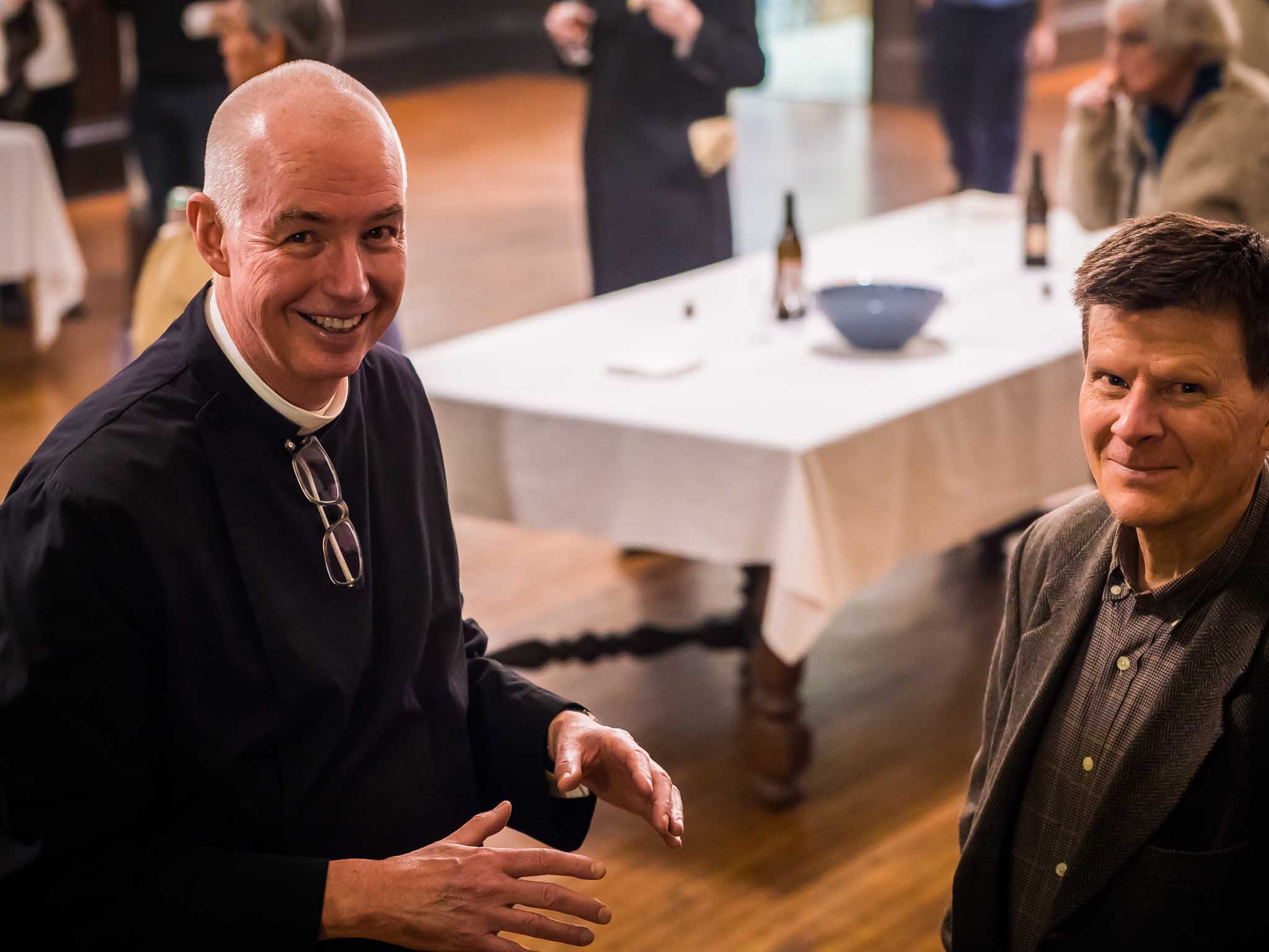 The Rector and Dale Reynolds after Evensong   Photo by Ricardo Gomez