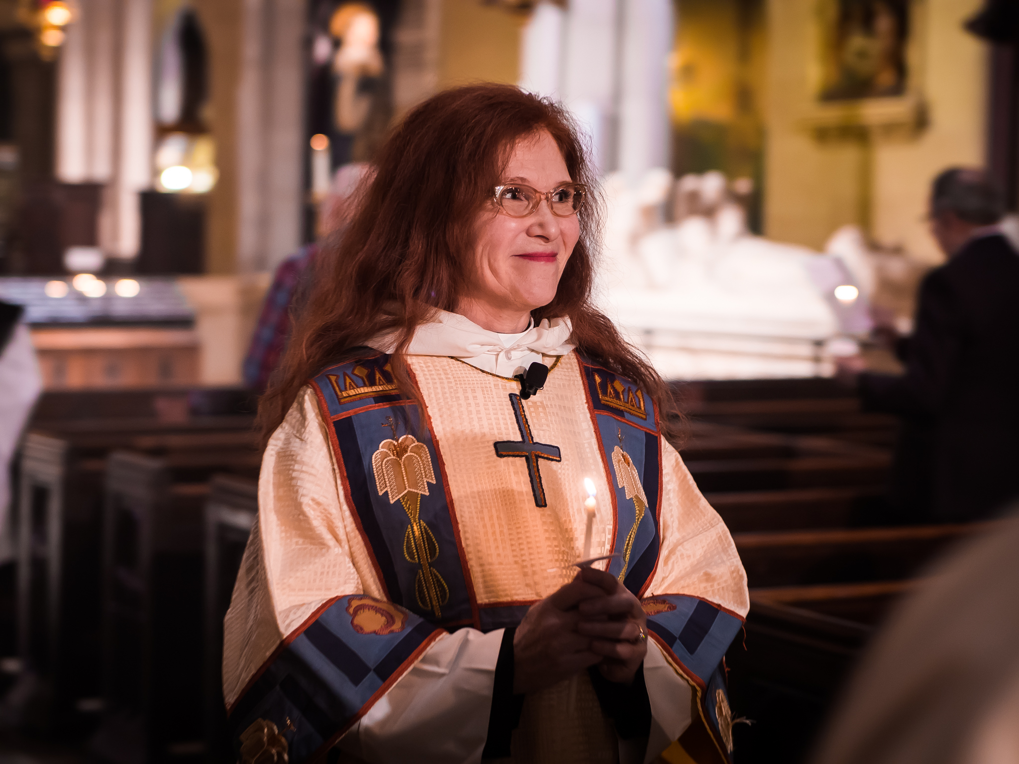 Deacon Rebecca Weiner Tompkins is back with us!    Photo by Ricardo Gomez