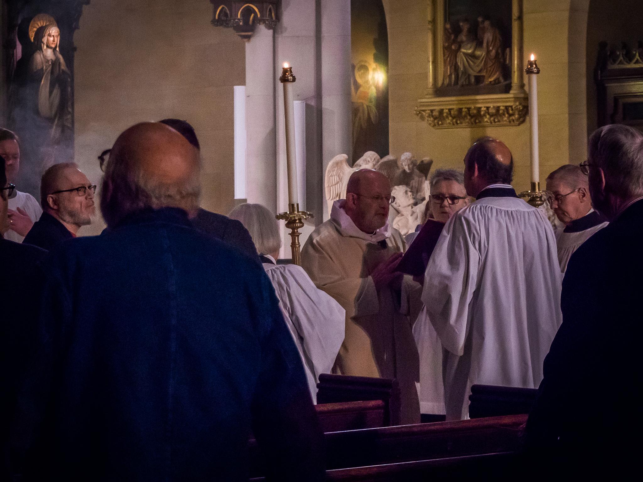 Father Jay Smith proclaimed the Gospel.   Photo by Ricardo Gomez