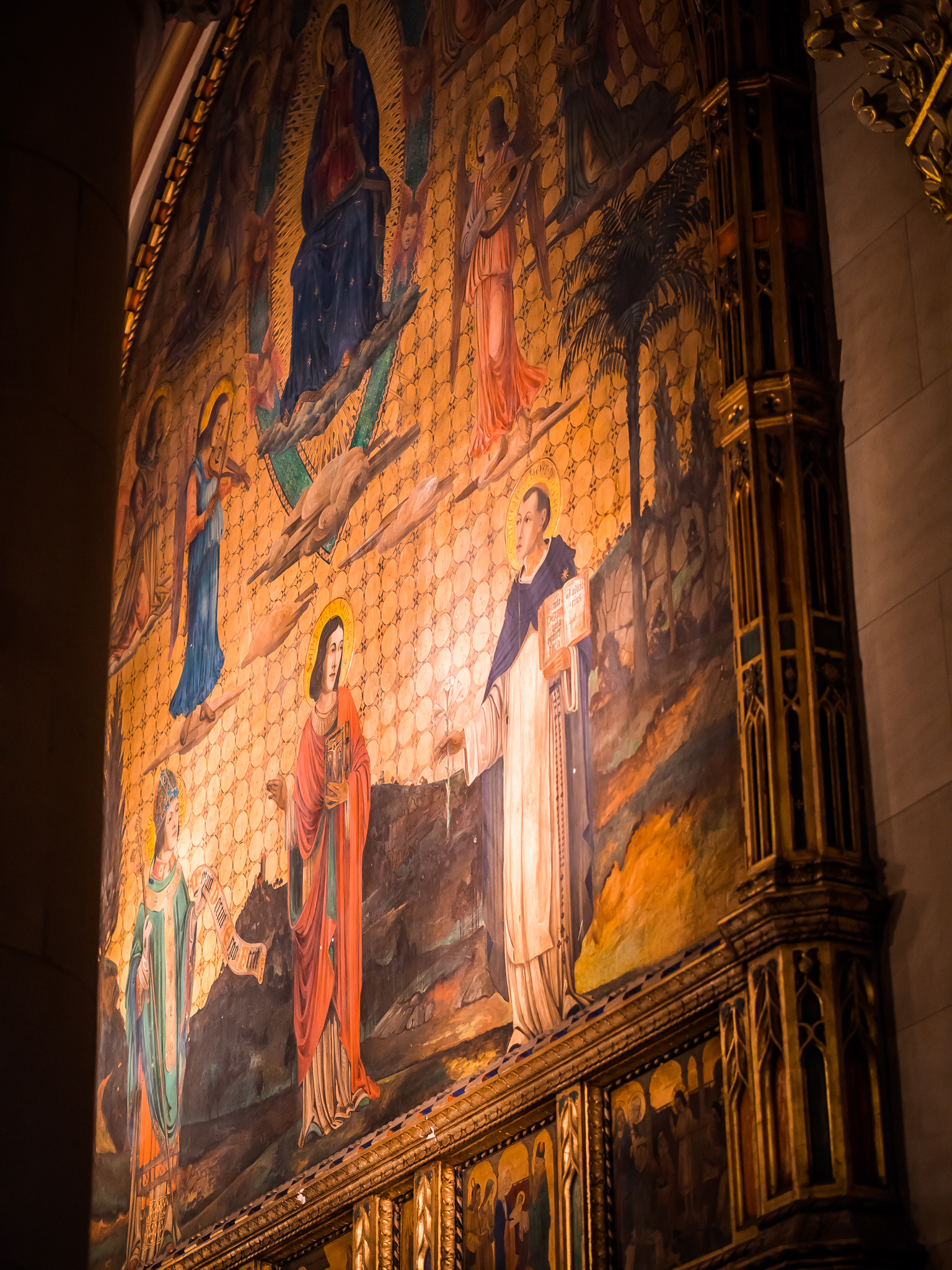 1922    Painting of Our Lady as Queen of Heaven (1922)   By Valentine Francis d'Ogries (1889-1959)   Photo by Ricardo Gomez