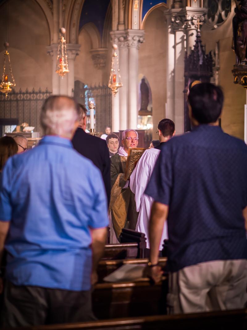 Father Jim Pace was Gospeller.    Photo by Ricardo Gomez
