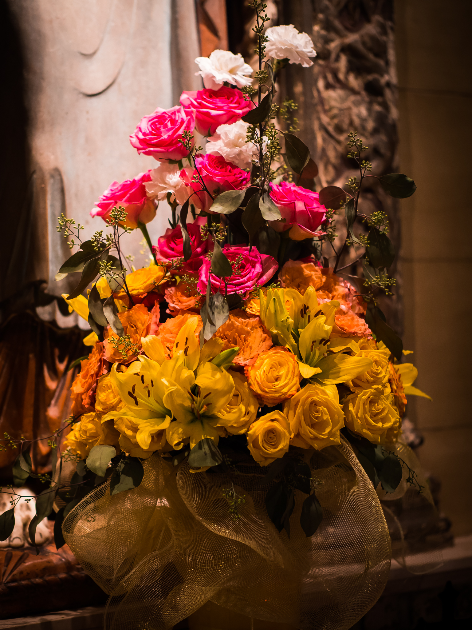 Flowers at the Shrine of the Sacred Heart  Photo by Ricardo Gomez