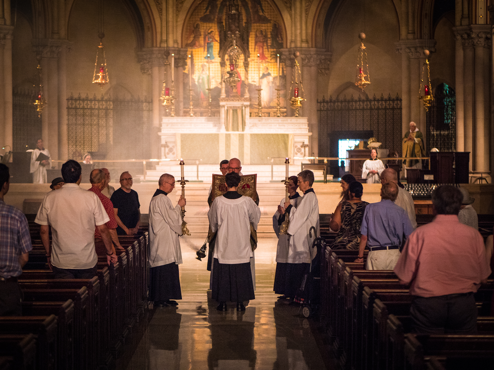 Incense is offered while the gospel is proclaimed.   Photo by Ricardo Gomez