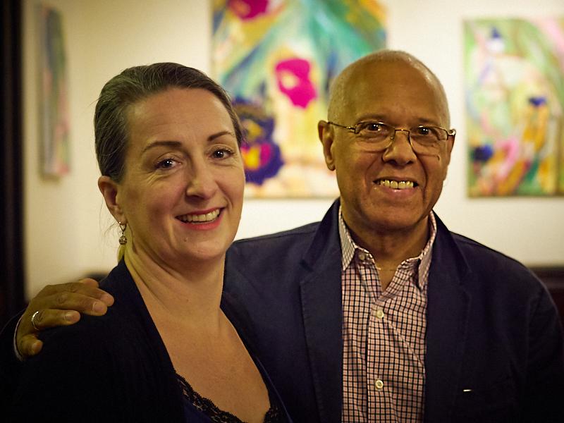 Chorister Heather Meyer & Dr. David Hurd, organist and music director   Photo by Ricardo Gomez
