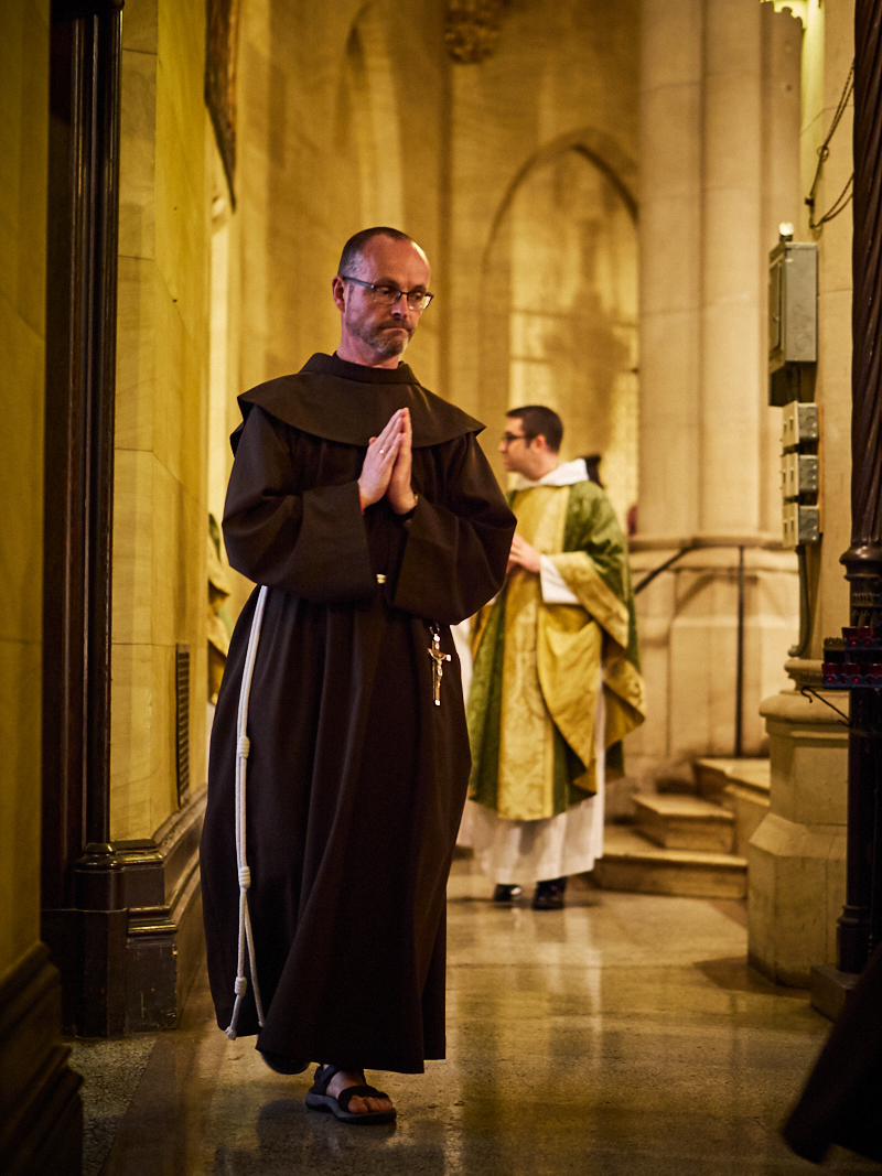 Br. Desmond Alban, SSF, Minister Provincial, was with us for the Feast of Saint Francis of Assisi and for the first Sunday in October.  Photo by Ricardo Gomez