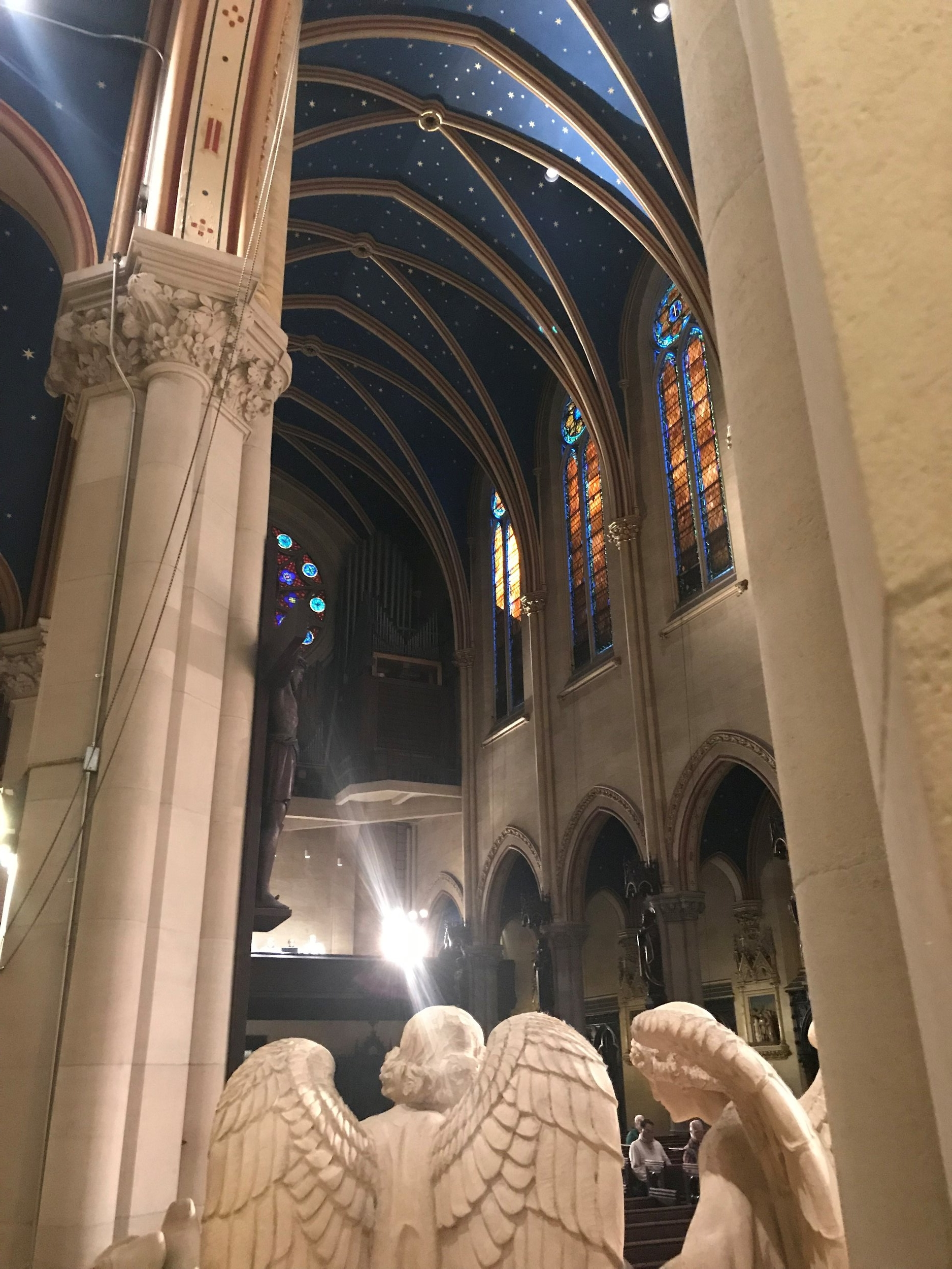 A view of the nave from the Thomas McKee Brown cenotaph.   Photo by Br. Damien SSF