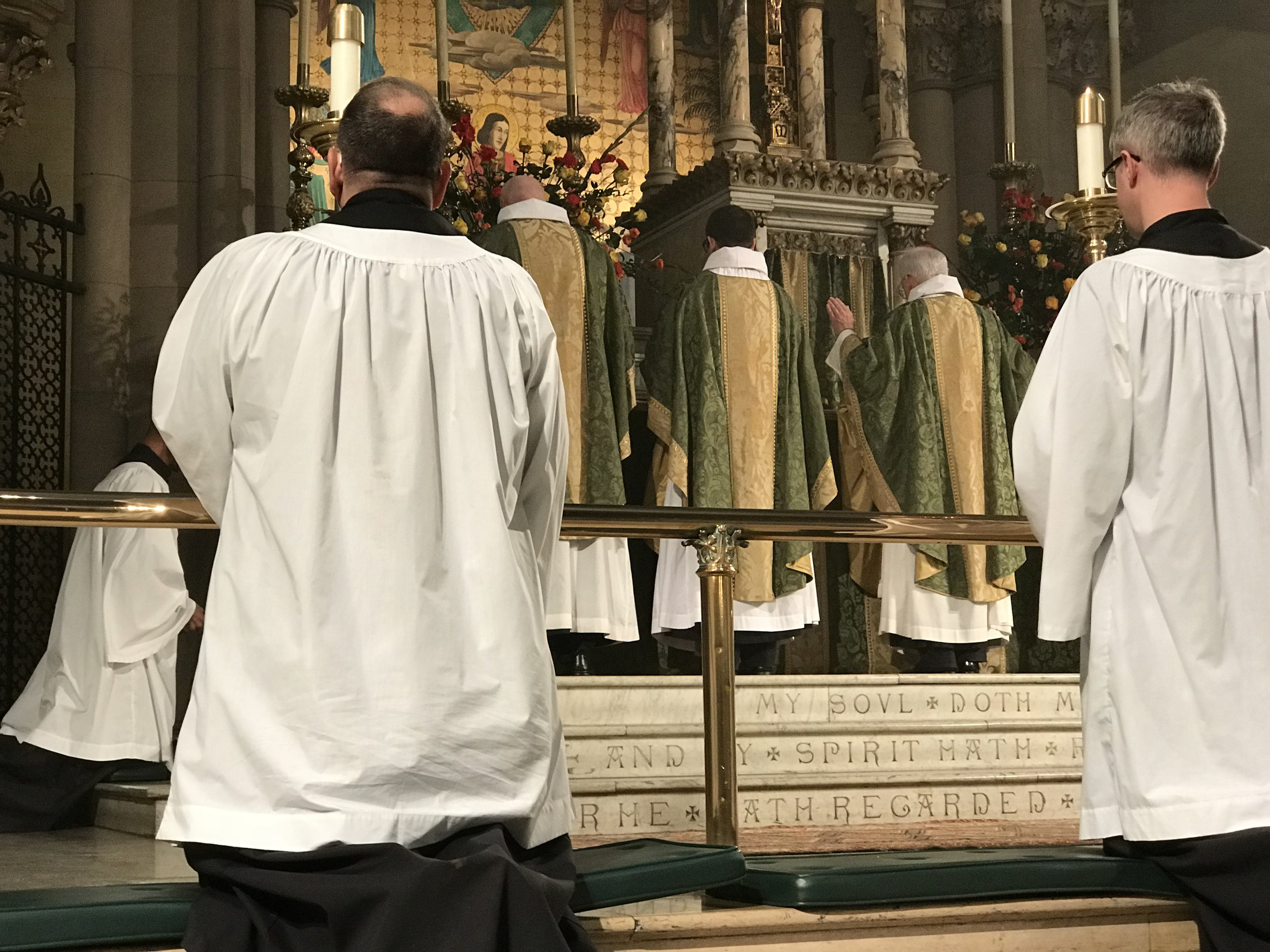 Father Jim Pace was celebrant and preacher for the Solemn Mass on Sunday, November 18, 2018.  Photo by Br. Damien SSF