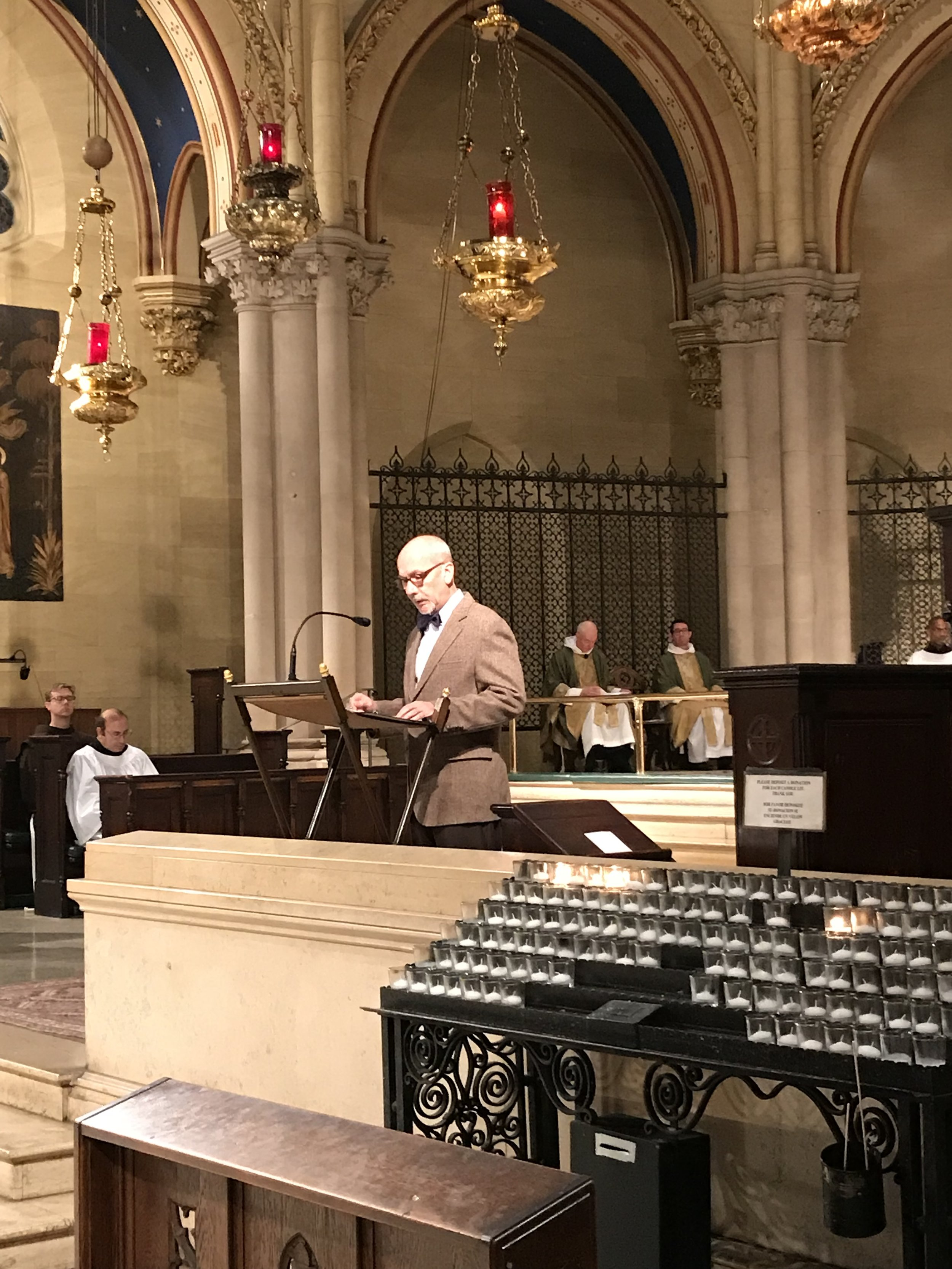 Steve Potanovic was reader for the Solemn Mass.   Photo by Br. Damien SSF