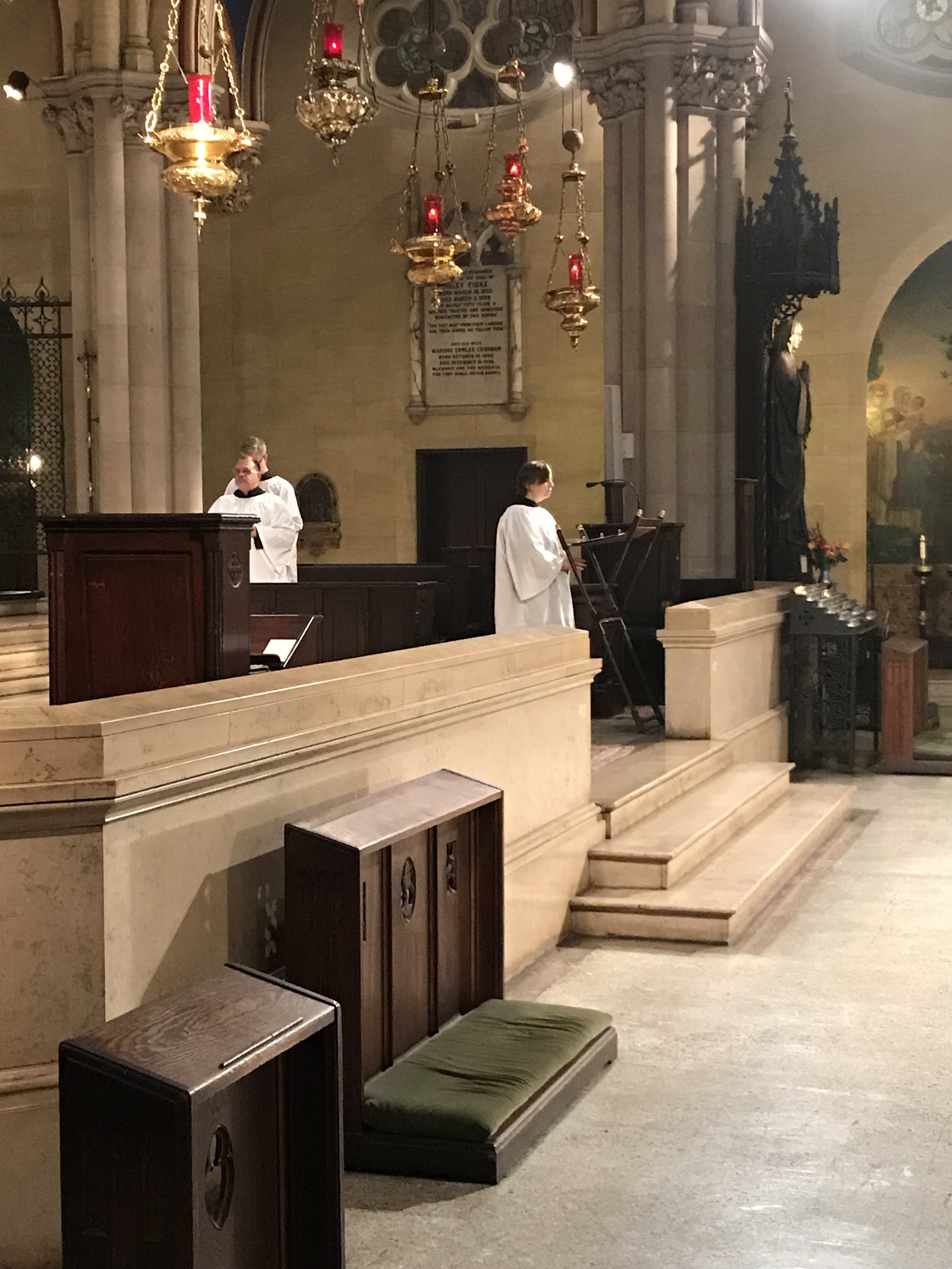 Marie Postlewate led the Prayers of the People.   Photo by Br. Damien SSF