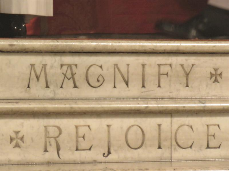 Detail from the steps of the high altar.   Photo by Br. Damien Joseph SSF