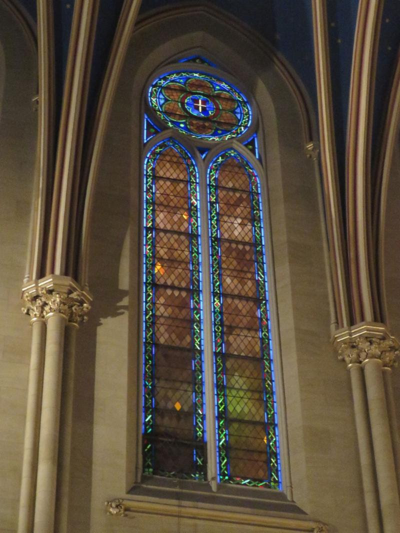 One of twenty-one double lancet windows in the nave.  Photo: Br. Damien Joseph SSF