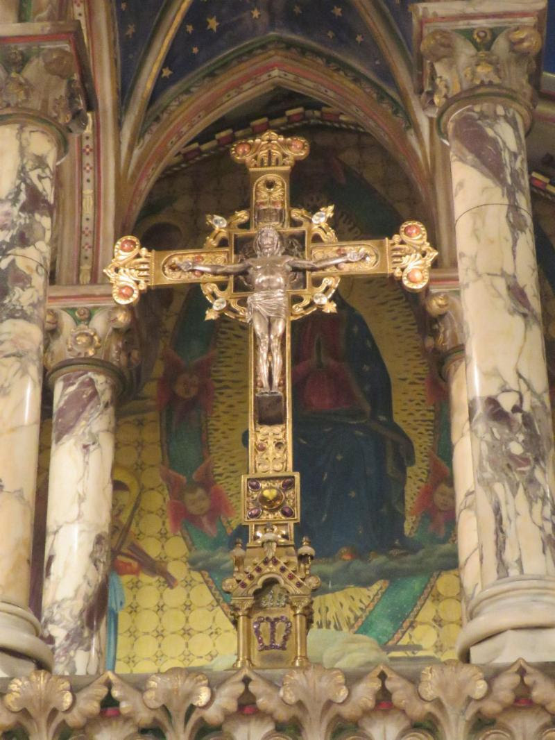 High Altar Crucifix, by the Gorham Company, in Memory of Philip Kissam (d. 1895). Photo by Br. Damien Joseph SSF