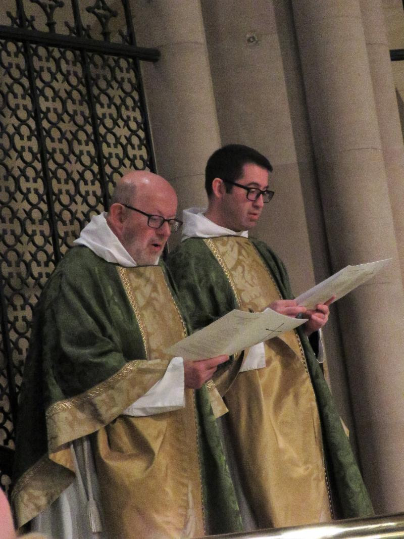 Father Jay Smith (L) and Father Matt Jacobson, were concelebrants.  Photo by Br. Damien Joseph SSF