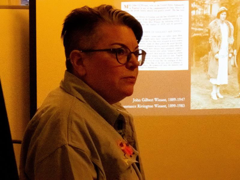 Mary Robison gave a presentation on the  Ave  archive project on Sunday, February 10.  Photo by Damien Joseph SSF