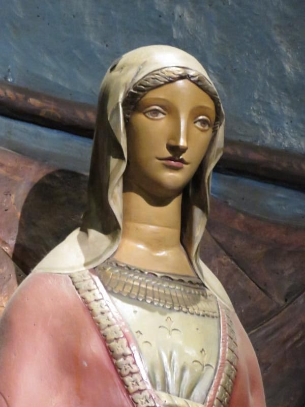 Polychromed Statue of Our Lady of Mercy (1924), by Lee Lawrie (1877-1963).  Photo by Damien Joseph SSF