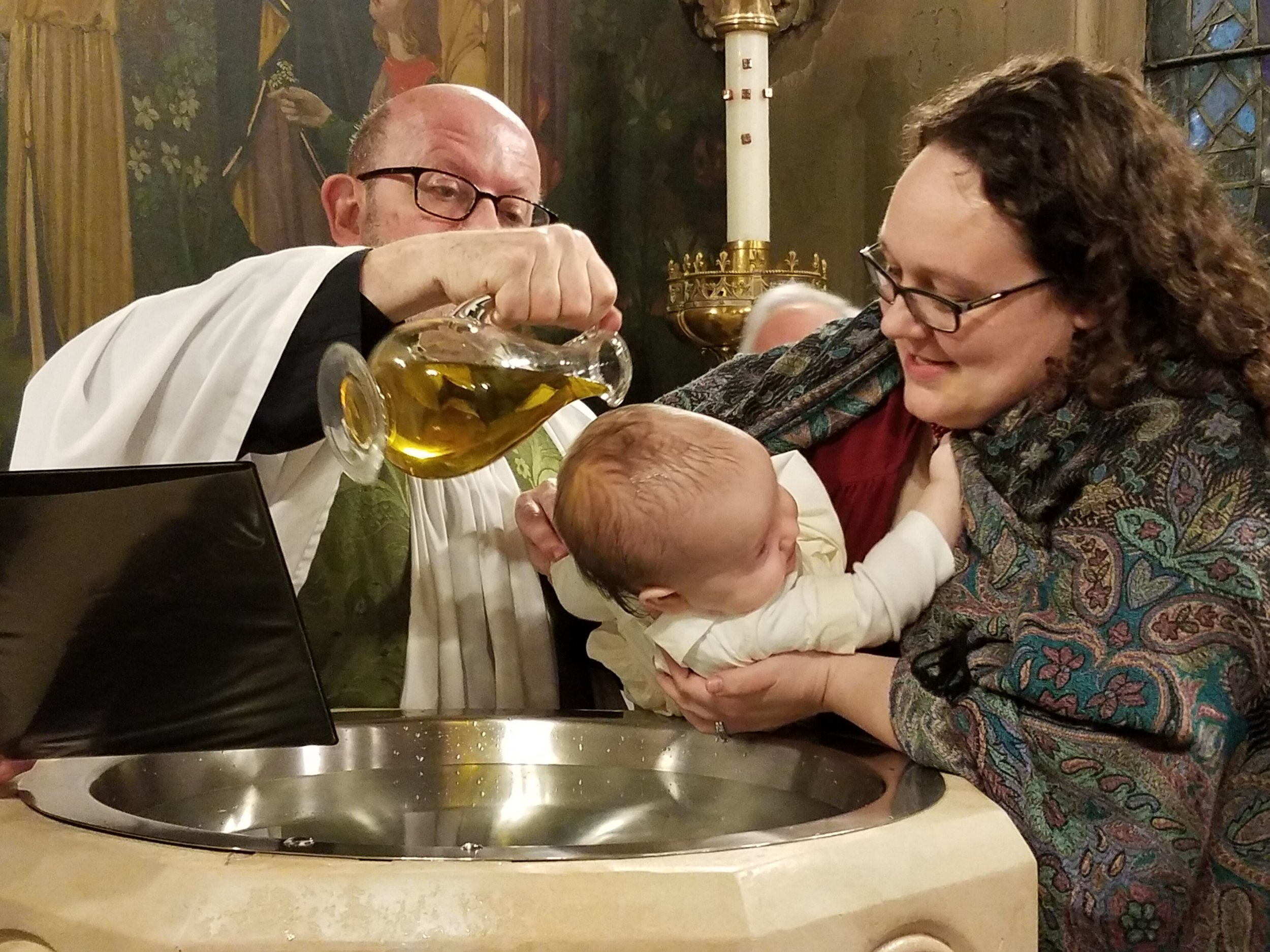 """You are sealed by the Holy Spirit in Baptism and marked as Christ's own for ever.""  Photo by Marie Rosseels"