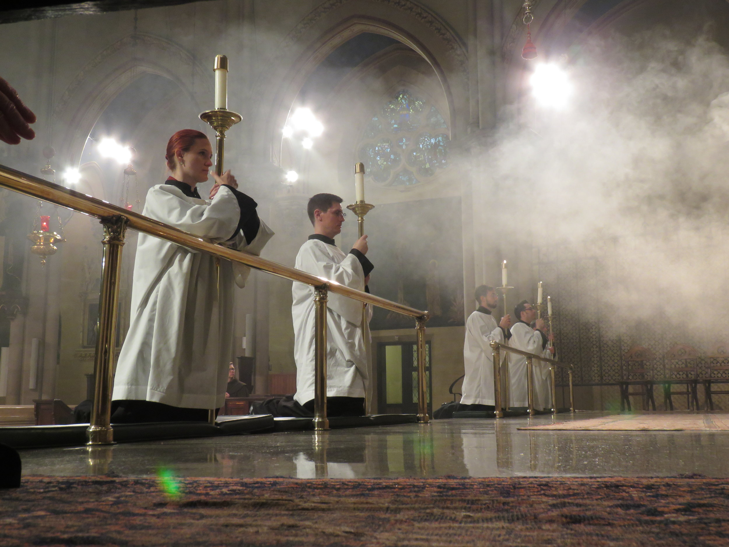 """""""And the smoke of the incense rose with the prayers of the saints"""" (Revelation 8:4).  Photo by Damien Joseph SSF"""
