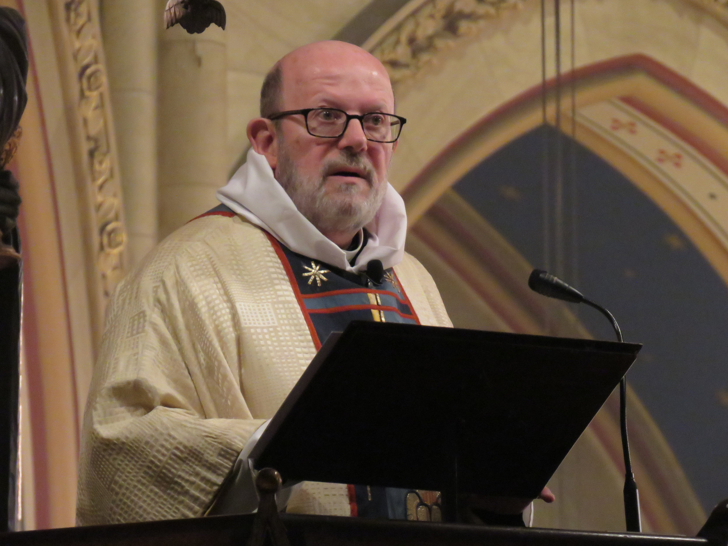Father Jay Smith was celebrant and preacher for the Solemn Mass for the Annunciation.  Photo by Damien Joseph SSF