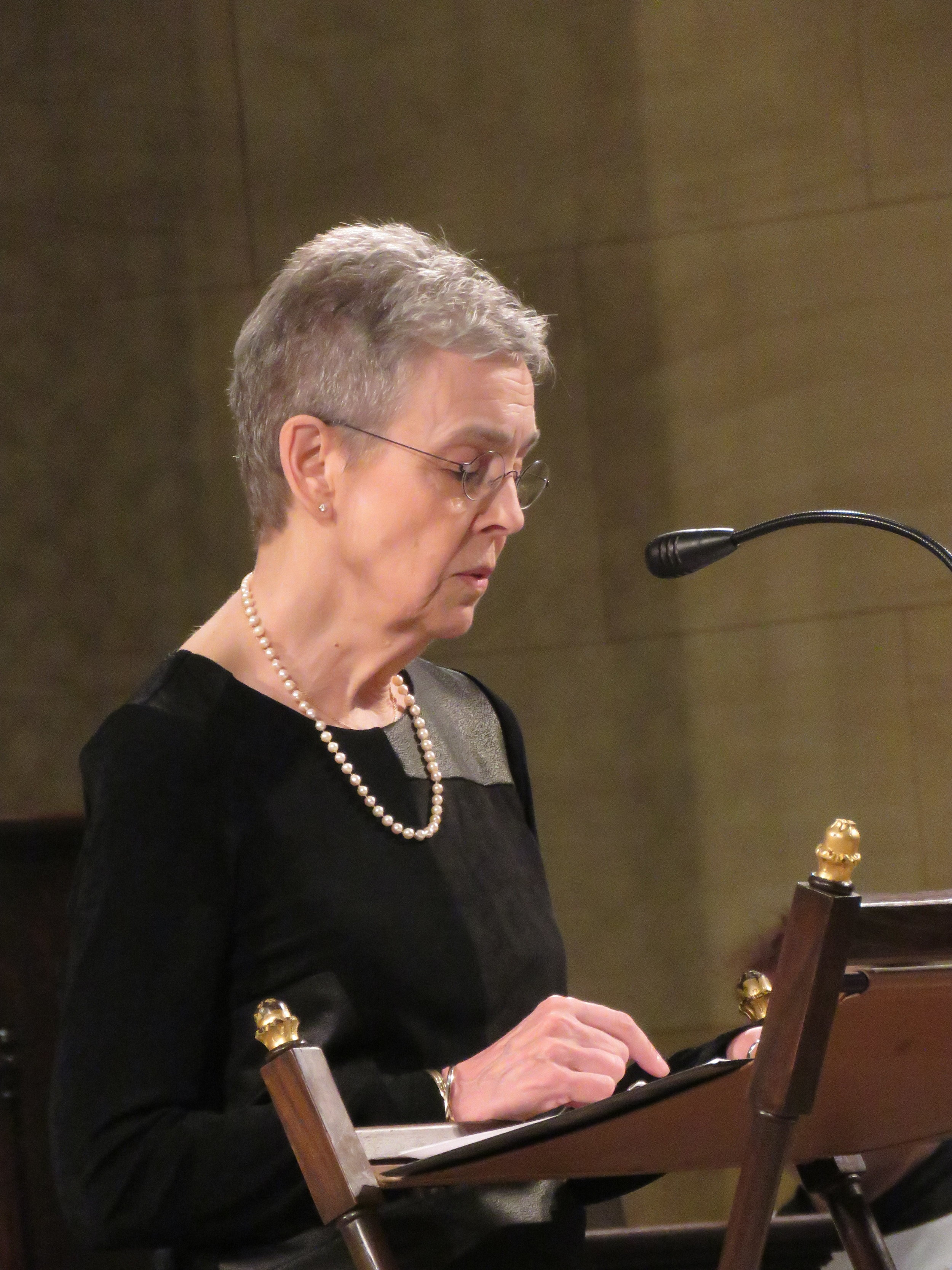 MaryJane Boland was reader for the Solemn Mass.  Photo by Damien Joseph SSF