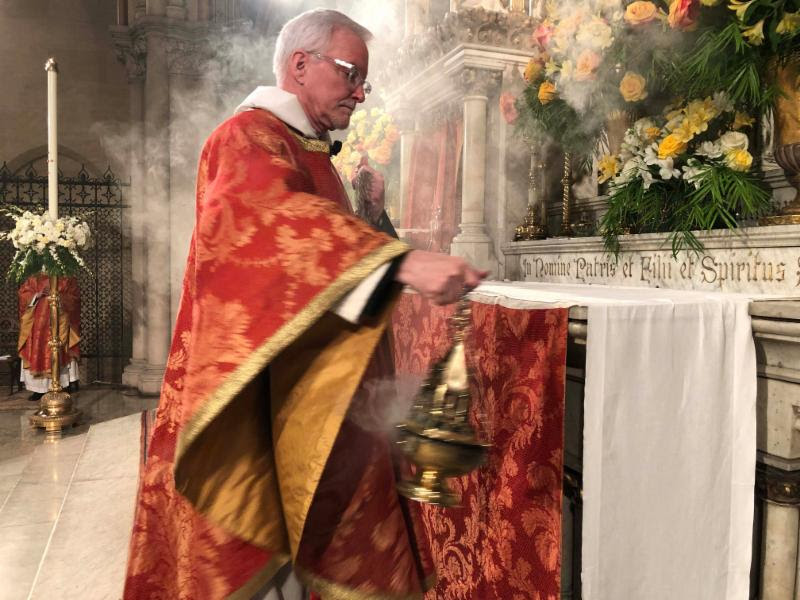 Father Pace celebrated his thirtieth anniversary of ordination to the priesthood on April 22, 2019.   Photo by Brendon Hunter