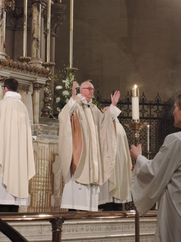 The Rector was celebrant and preacher.     Photo: Clark Mitchell