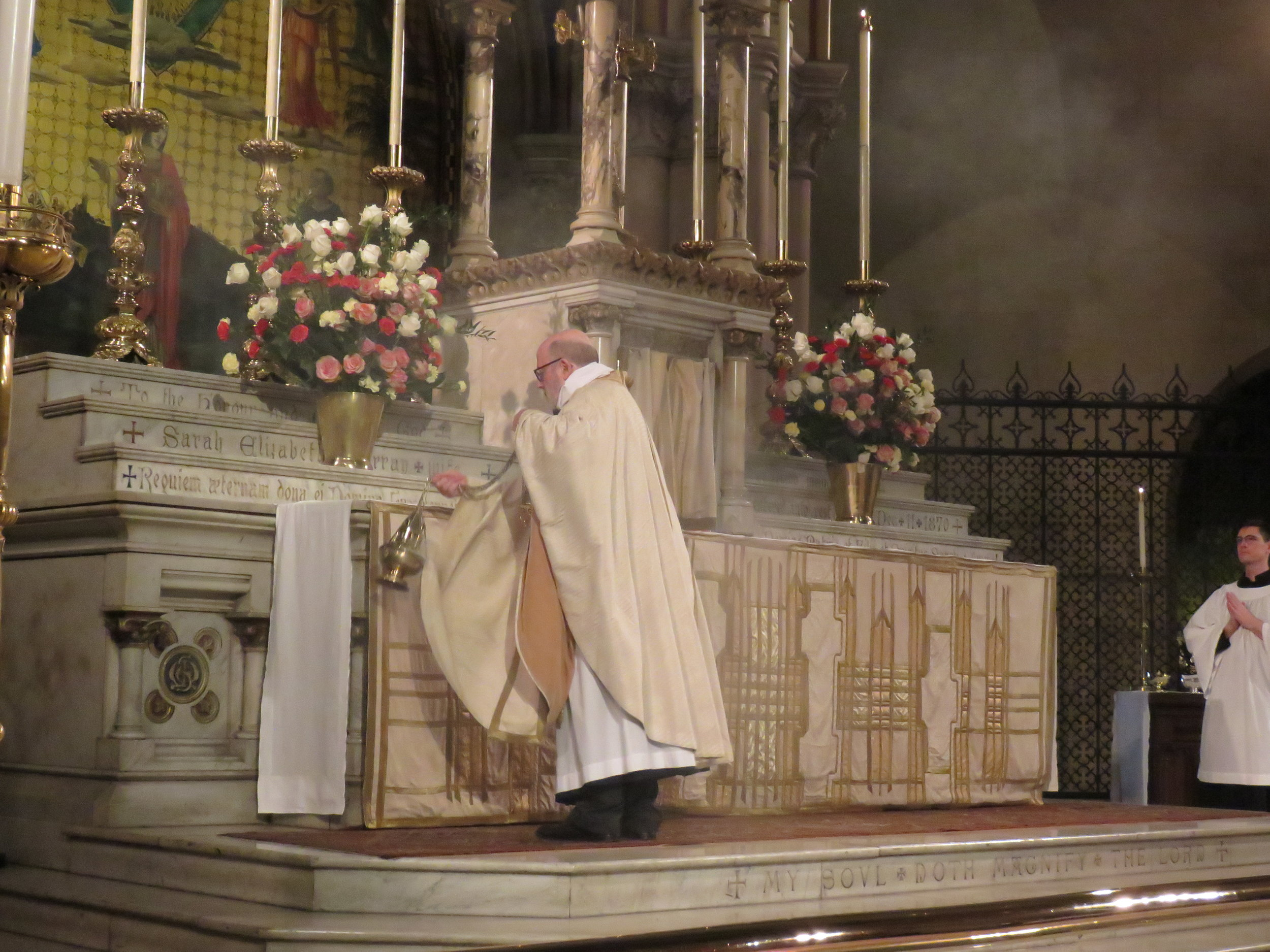 Father Jay Smith was celebrant and preacher on the Sixth Sunday of Easter, May 26.     Photo: Damien Joseph SSF