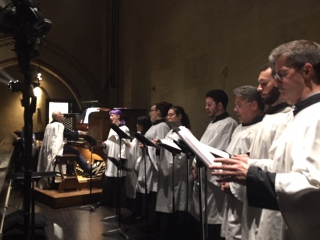 The choir sang Dr. David Hurd's  Missa Brevis  on the Seventh Sunday of Easter. The parish choir's last Sunday is June 23, the Feast of the Body and Blood of Christ: Corpus Christi.  Photo: Renee Pecquex