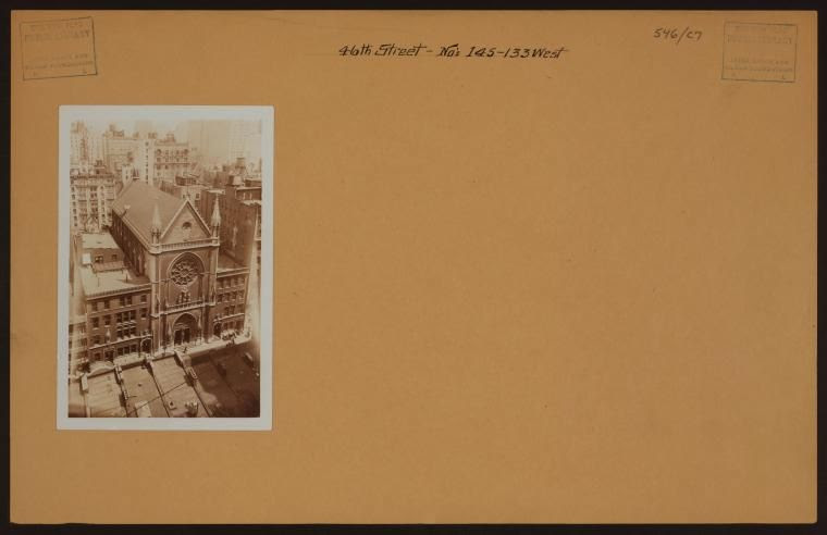 An aerial shot of Saint Mary's, taken around 1935.  Photo:  OldNYC, Mapping Old Photos from the New York Public Library