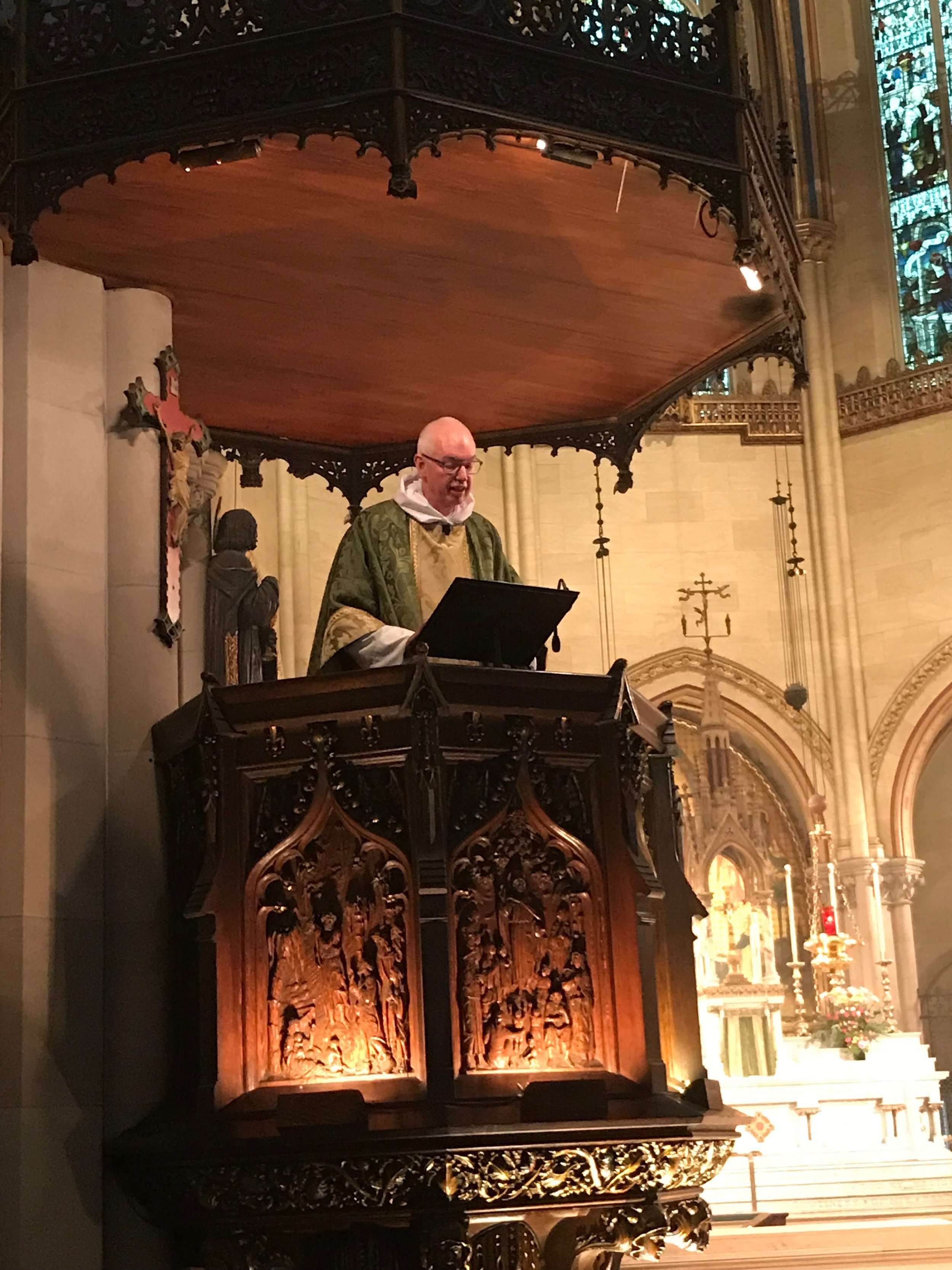 The Rector was celebrant and preacher. Father Jay Smith and Father Jim Pace were concelebrants.  Photo: Damien Joseph SSF