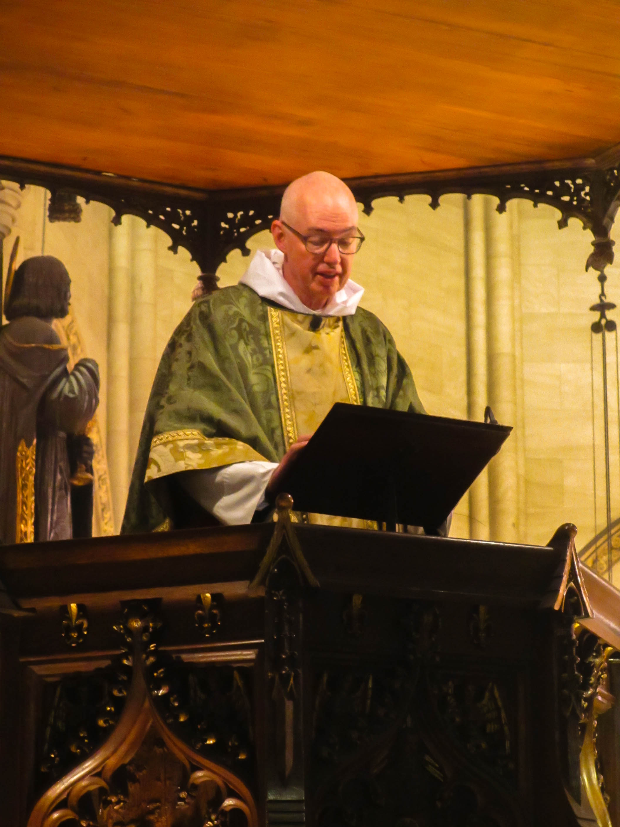 The Rector was celebrant and preacher for the Solemn Mass.    Photo:  MaryJane Boland