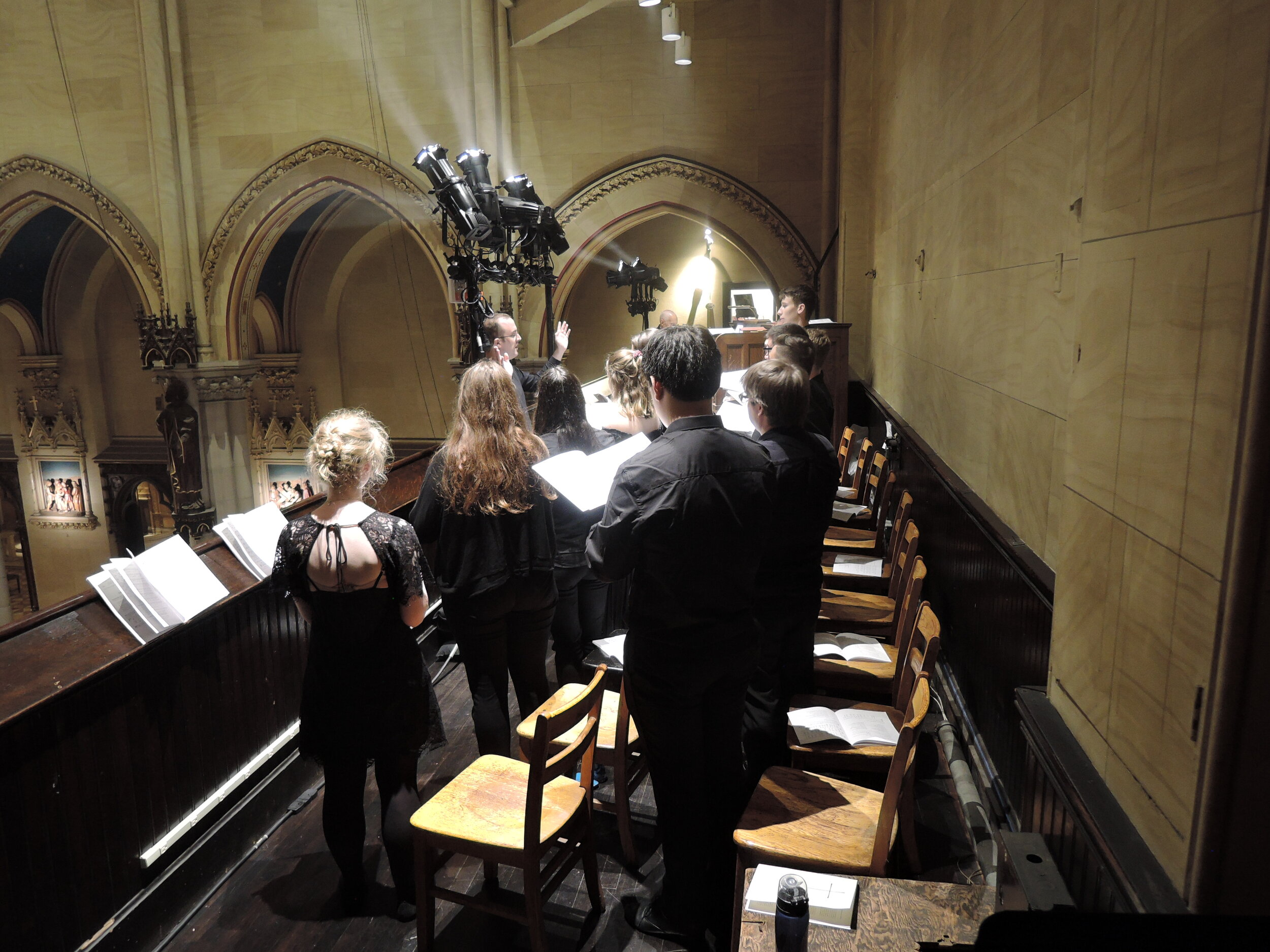 The Chapel Choir of Emmanuel College, Cambridge University, UK, sang  Missa Secunda  by Hans Leo Hassler (1564 --- 1612) and  Beatus vir qui non abiit,  a four-voice setting of Psalm 1:1 --- 3 from Hassler's Cantiones sacrae of 1591, at the Solemn Mass on Sunday, September 8, 2019.  Photo:  Grace Mudd