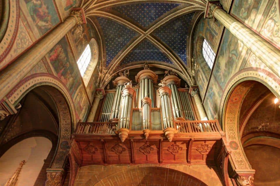 The organ at the Abbey Church of Saint-Germain-des-Prés, Paris, where André Isoir served as  organiste titulaire. Photo:  Reids.France.com