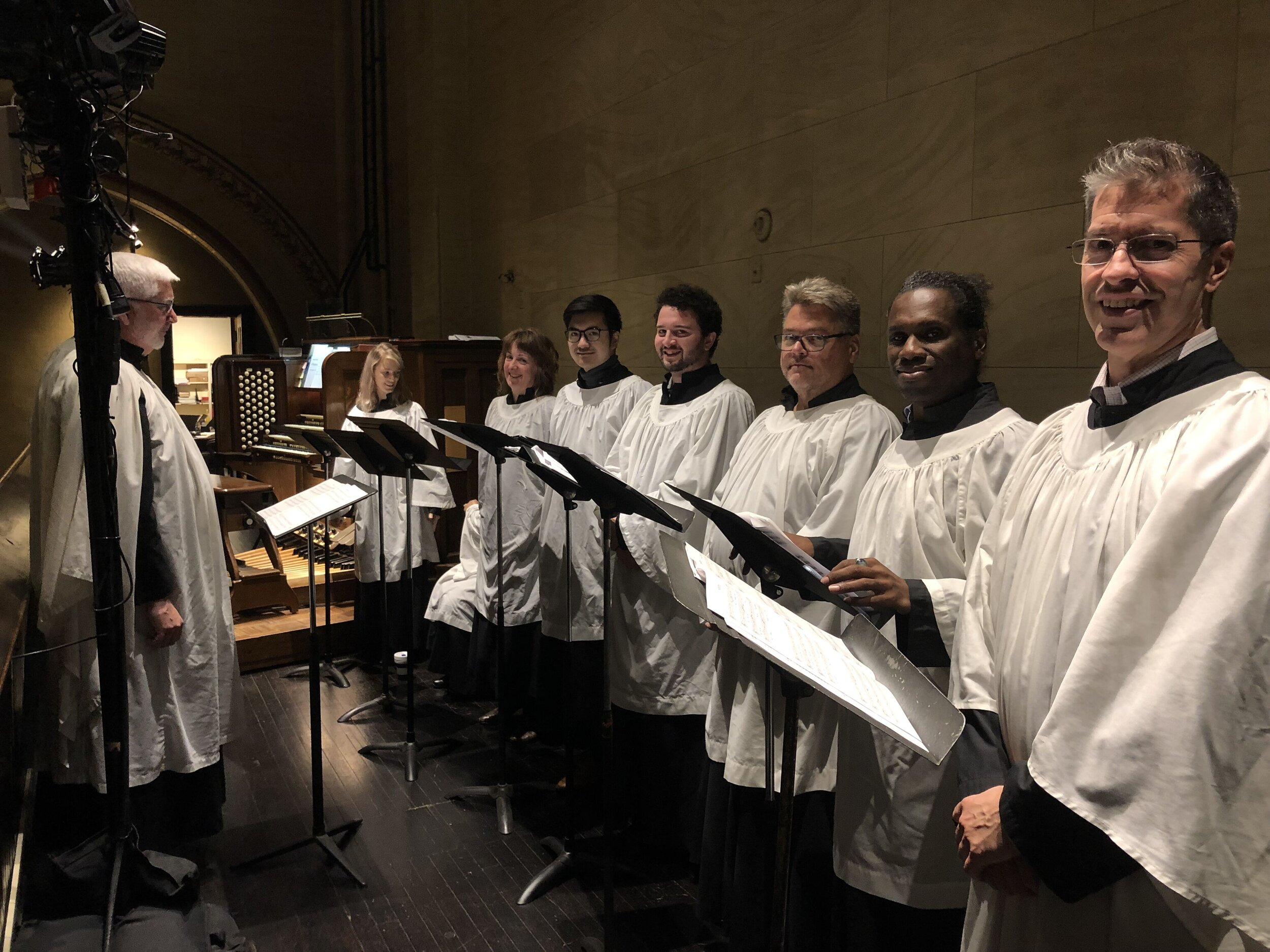 """""""Sing the praise of the Lord in the congregation of the faithful"""": The Saint Mary's Choir returns to Saint Mary's after the summer break. Clark Anderson played the service and directed the choir on October 6.    Photo:  Brendon Hunter"""