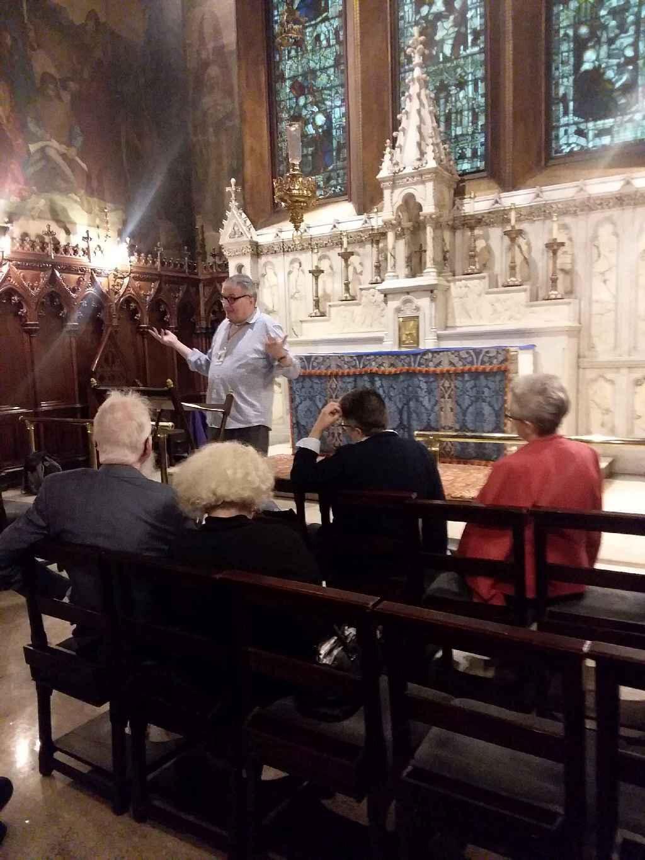 John Sheehan, LMSW, makes his presentation in the Adult Forum on October 6.   Photo:  Jennifer Stevens