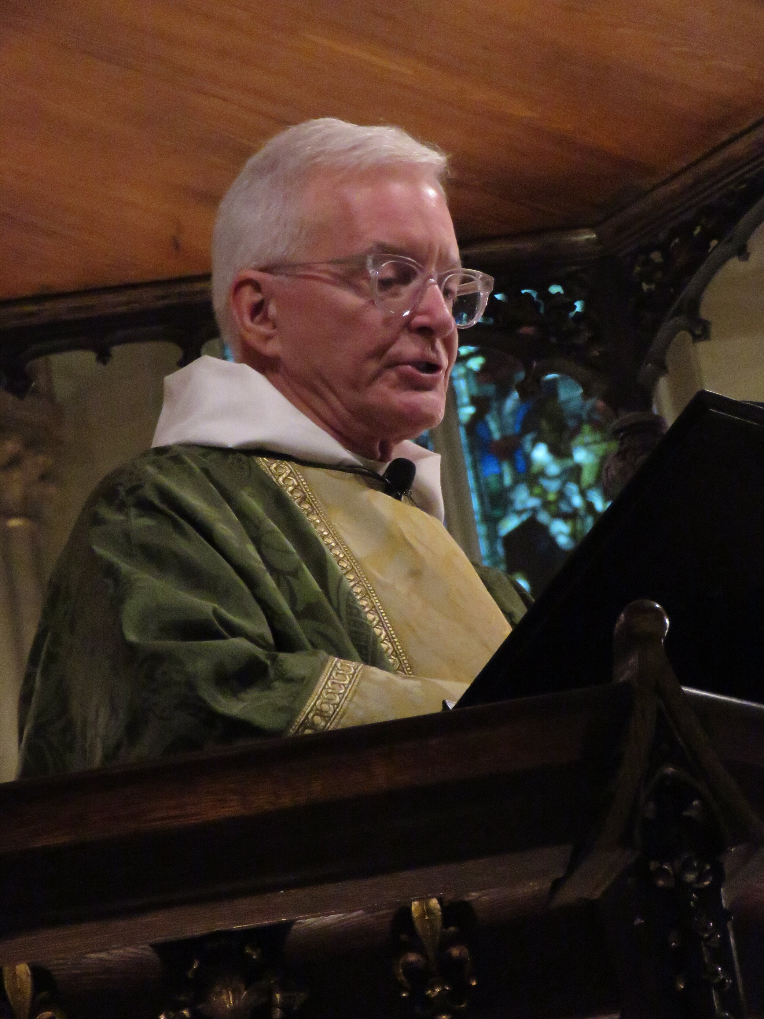Father Jim Pace was celebrant and preacher.  Photo:  Damien Joseph SSF