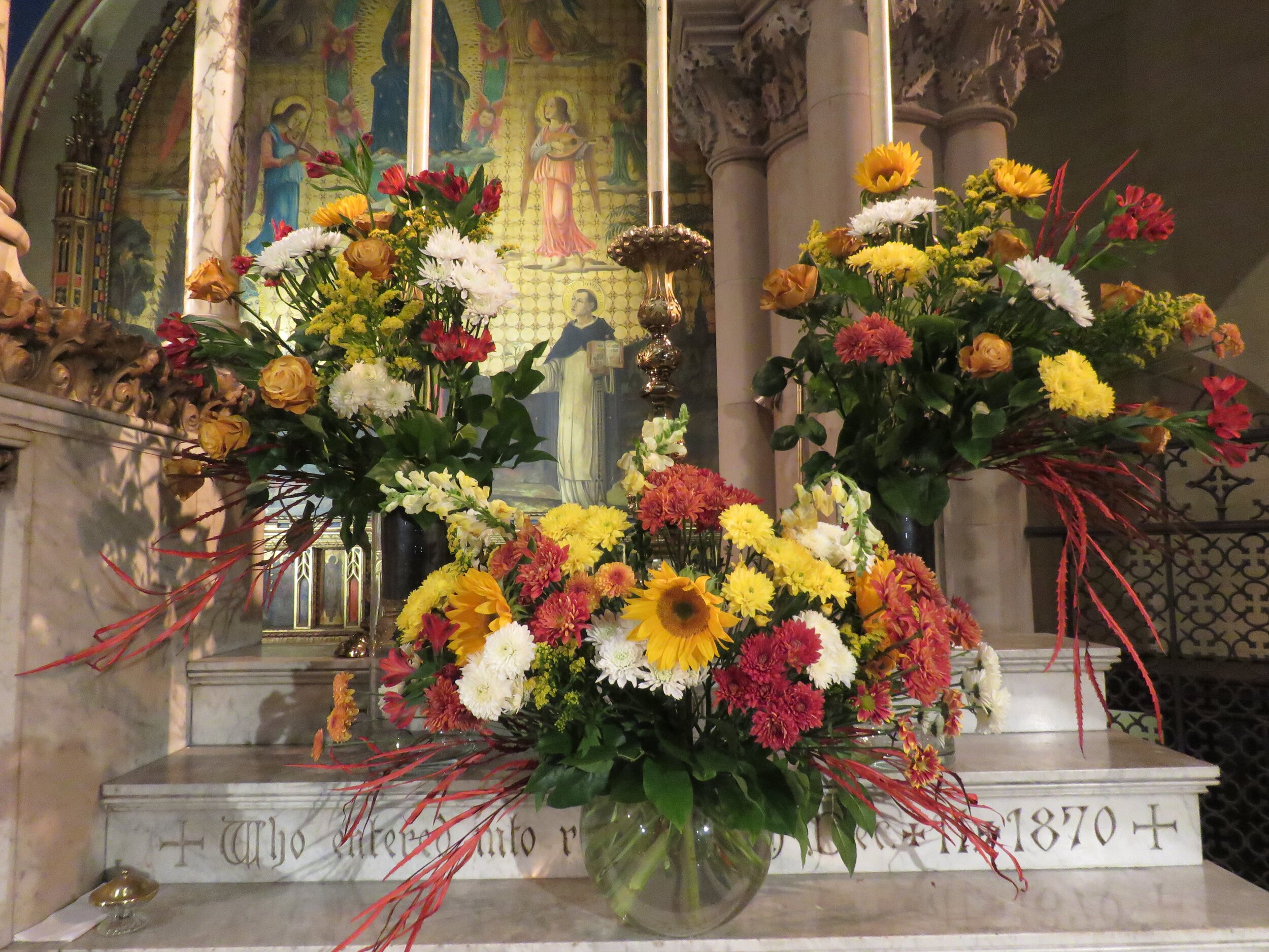 The flowers were given to the Glory of God and in thanksgiving for the ministry of the Society of Saint Francis by the members of the Third Order of the Society of Saint Francis.    Photo:  Damien Joseph SSF