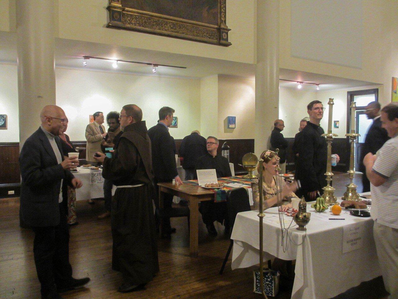 "We have a number of guilds at Saint Mary's. On Sunday, October 20, 2019, a ""Guild Fair"" was held in St. Joseph's Hall following the Solemn Mass.   Photo:   MaryJane Boland"