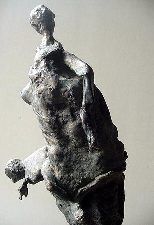 Bezwering - 2004 -detail - brons
