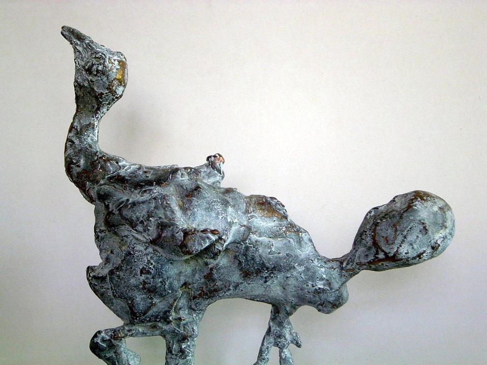 Foetusvogel - 2005 - detail - brons