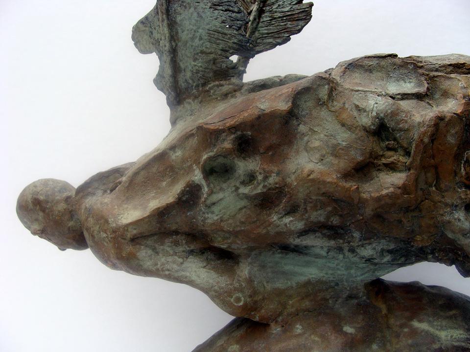Icarus - 2005 - detail - brons