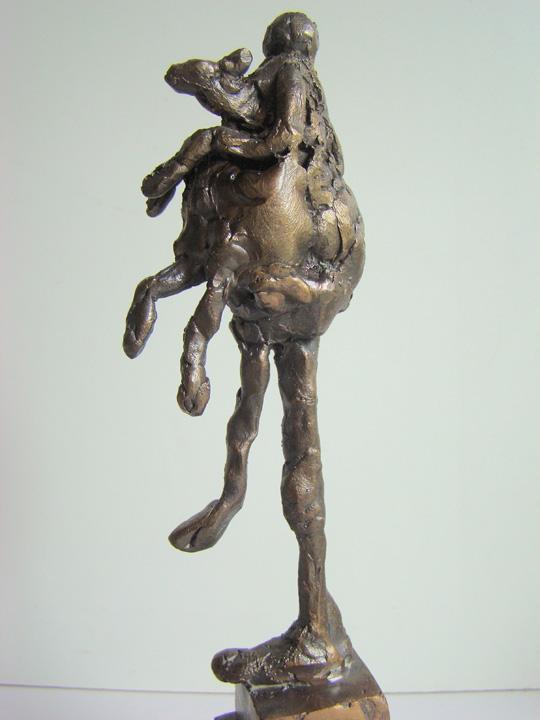 Man met hond - 2007 - detail - brons