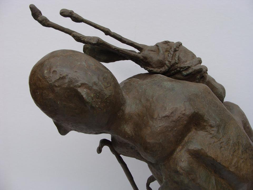 Pelgrim 2 - 2007 - detail - brons