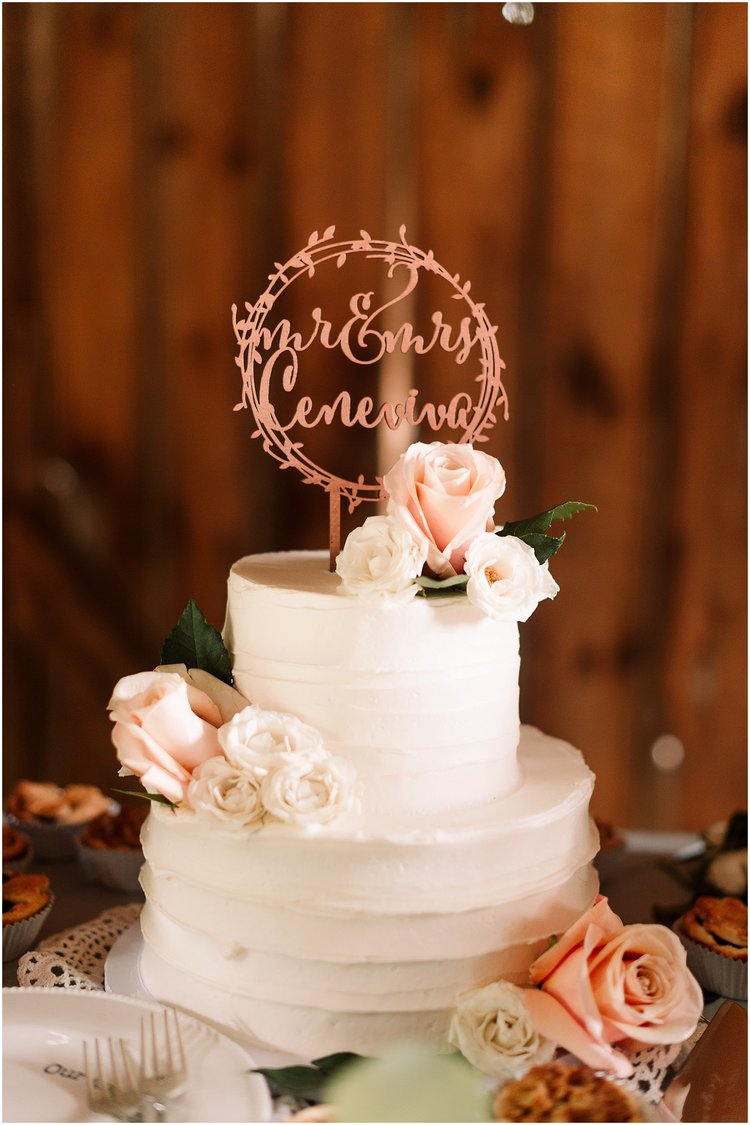 rustic floral wedding cake
